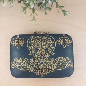 Handbags - Hand Painted Leather Box Clutch